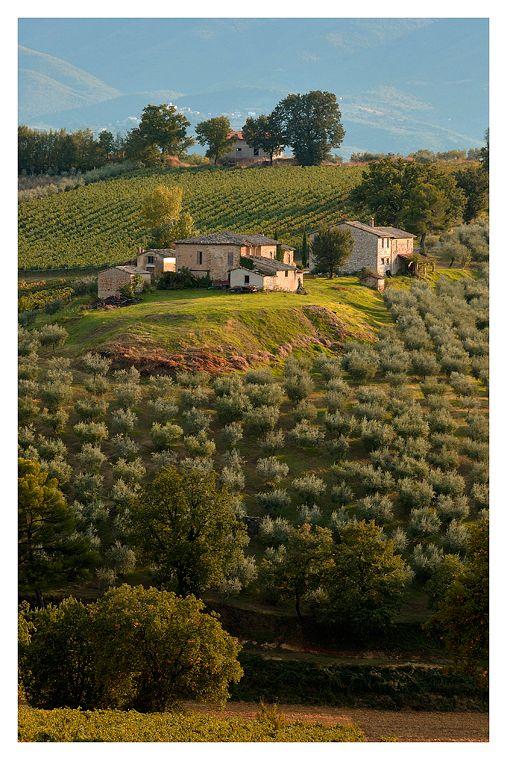 la campagna Umbra - Italia - qs casa è uguale a un quadro che mi regalò papà.