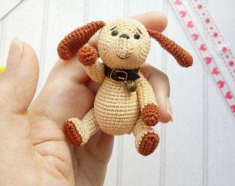 Crochet toy dog, Amigurumi dog, Christmas toy dog, Christmas decoration, Christmas gift toy dog