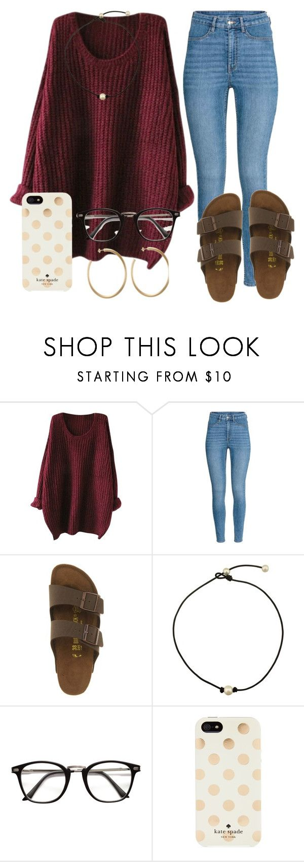 """Untitled #42"" by jiggle207 on Polyvore featuring Birkenstock and Kate Spade"