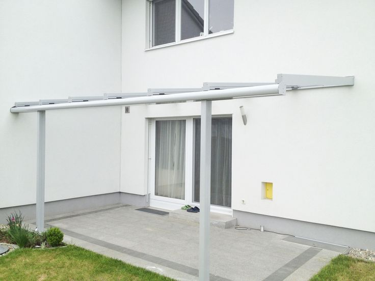 Überdachung Mit Filigranen Profilen Und Glas. Mehr Ideen Für Deinen  Windschutz Auf Deiner Terrasse Gibtu0027s