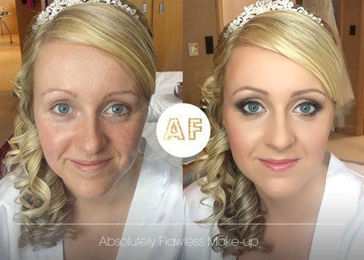 Bridal Makeup bold smokey eye with liner and warm pink lips