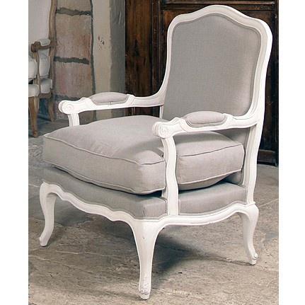 Butaca millena de madera blanca sillones pinterest for Sillas blancas tapizadas