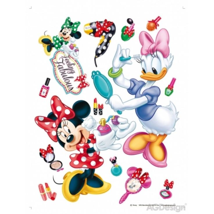 Minnie egér és Daisy kacsa szépségszalon falmatrica