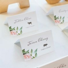 Printable Wedding Place Cards with Meal Choice Icons