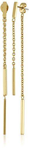 "Rebecca Minkoff ""Bar Essentials"" Bar Front to Back Drop Earrings  http://stylexotic.com/rebecca-minkoff-bar-essentials-bar-front-to-back-drop-earrings/"