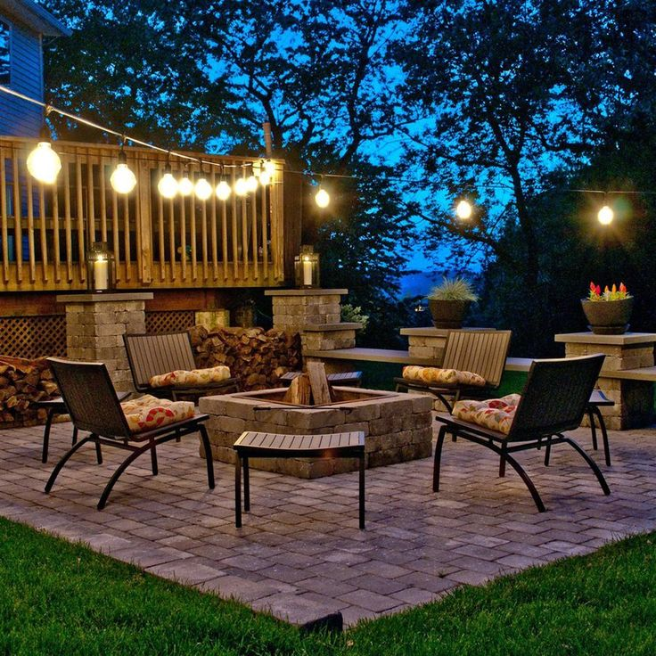 Backyard String Lights Lowes : patio perfection Patio Design, Hanging Lights, Outdoor String, Patio