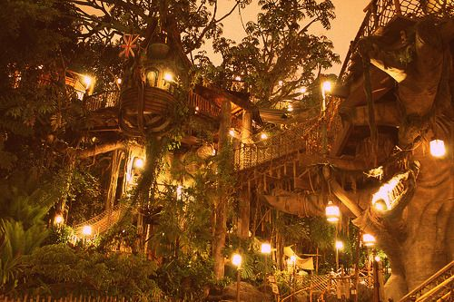 Tarzan's treehouse at Disneyland