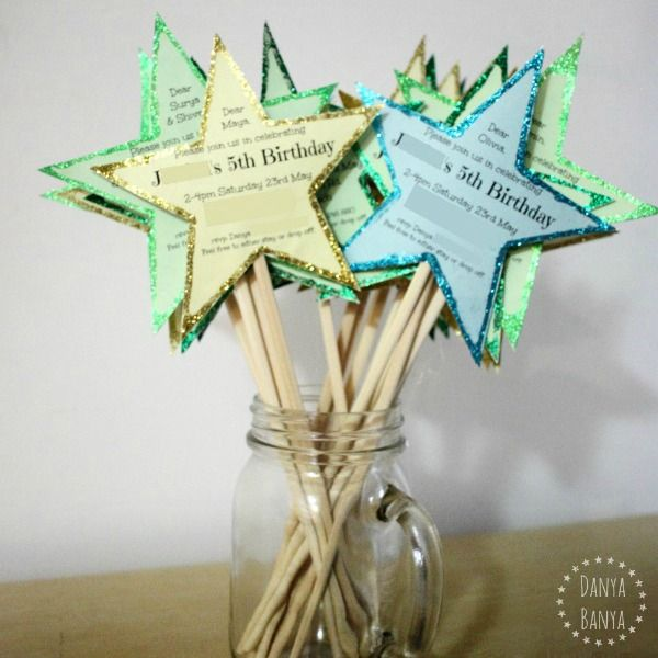 Fairy Wand Party Invitations