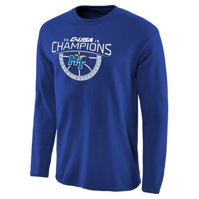 Mid. Tenn. St. Blue Raiders 2016 Conference USA Women's Basketball Conference Champions Long Sleeve T-Shirt - Royal