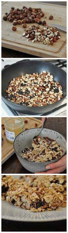 Kostenloses Rezept: Müsliriegel mit Erdnussbutter, gesundes Frühstück / free recipe: make your own cereal bars with peanut butter via DaWanda.com