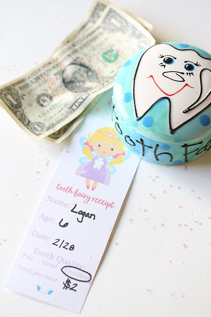 Tooth Fairy Receipt - Free Printable for Kids