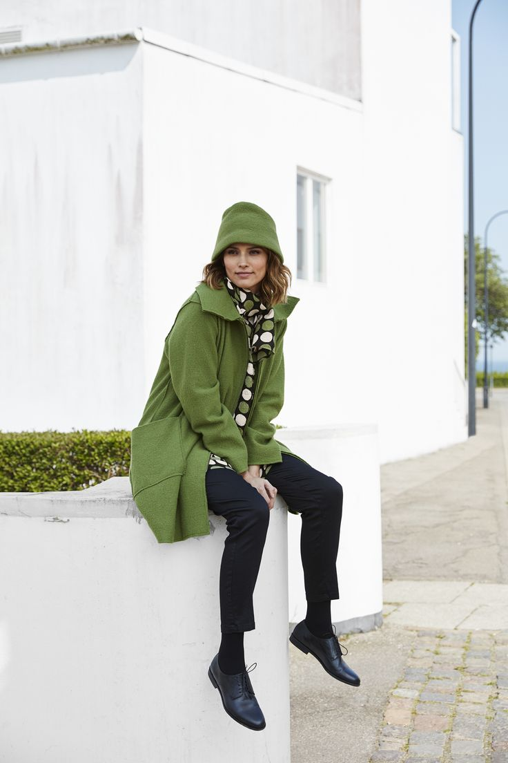 Autumn Collection Masai Clothing Company 2016. Woll Coat in Green.