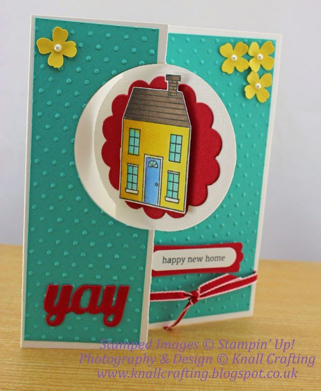 Knall Crafting! Welcome to your new home! Stampin' Up! Holiday Home Flip Card