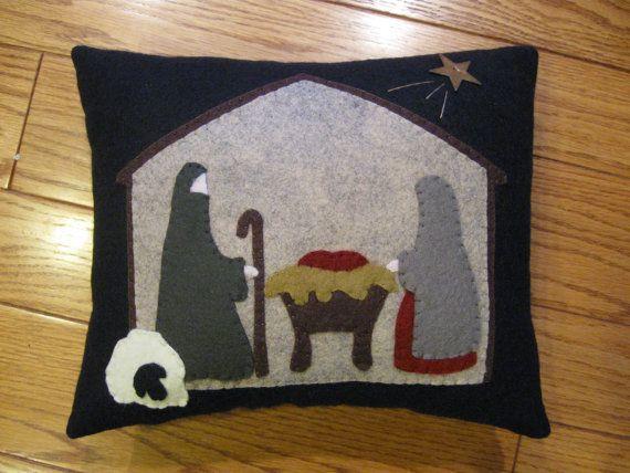 Folk Art Nativity Manger Scene Christmas Pillow by Justplainfolk & 113 best Nativity images on Pinterest | Nativity scenes Christmas ... pillowsntoast.com