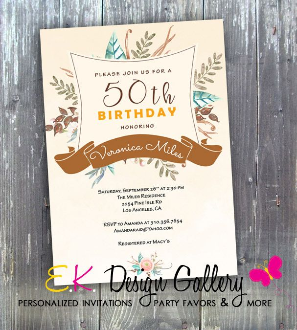 1000+ ideas about 50th Birthday Party Invitations on ...