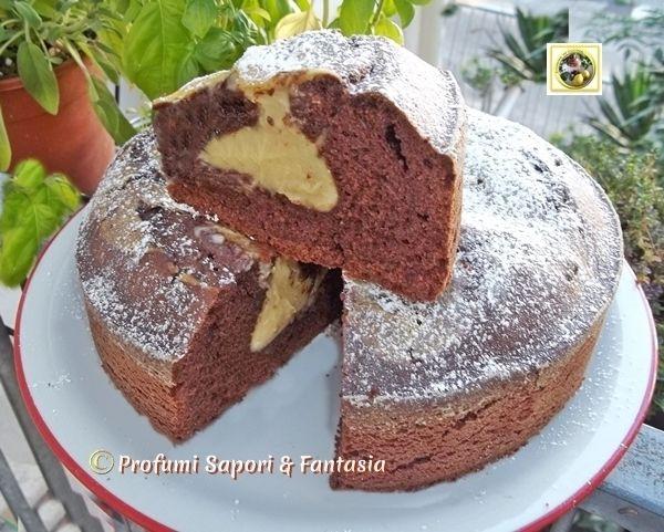 Torta al cioccolato con crema alla nocciola  Blog Profumi Sapori & Fantasia