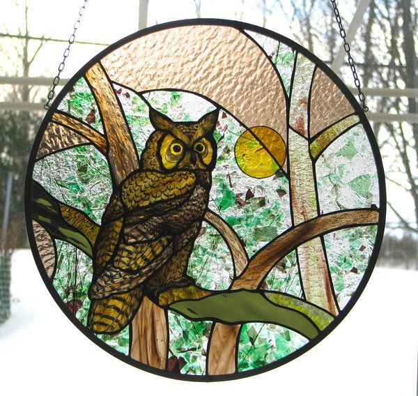 SERENO by pablapicassa on deviantART stained glass owl