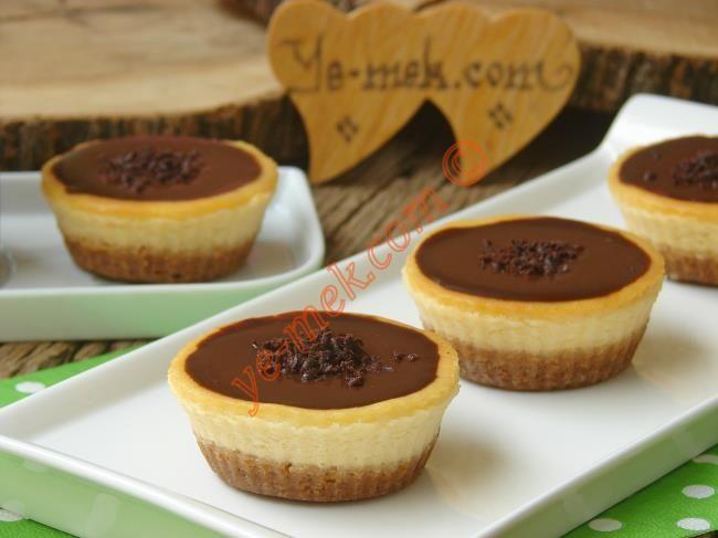 Çikolatalı Mini Çiz Kek (Cheesecake) Resimli Tarifi - Yemek Tarifleri