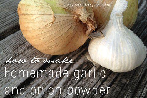 How to make homemade garlic powder and onion powder