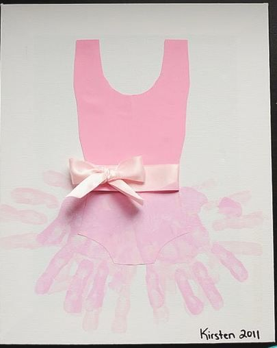 Tutu handprint...i would love to incorporate this into the dance year some how! love it!!