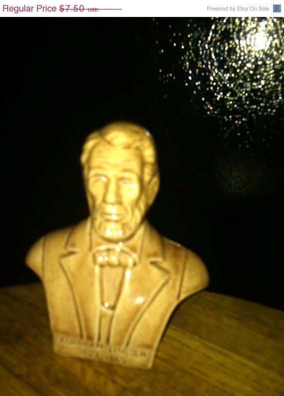 LincolnHead n shoulder figurineVintageNew CondHARD by Altcollect