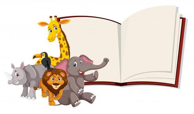 Wild Animals Open Book Template Animals Wild Animal Tails Book Template