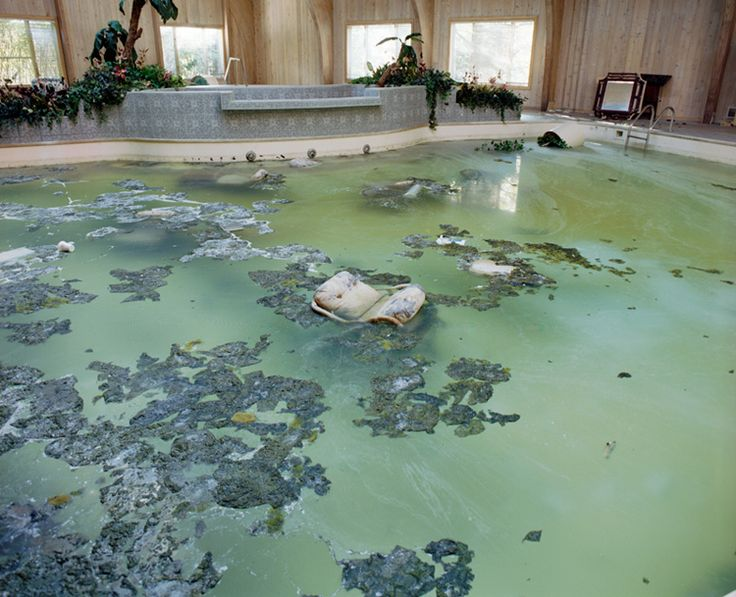 A Chair Floats In Mike Tyson S Abandoned Ohio Mansion S Indoor Swimming Pool Rot Ruin