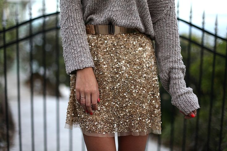I've seen this Zara skirt everywhere… and the sweater dresses it down perfectly (also a great blog)