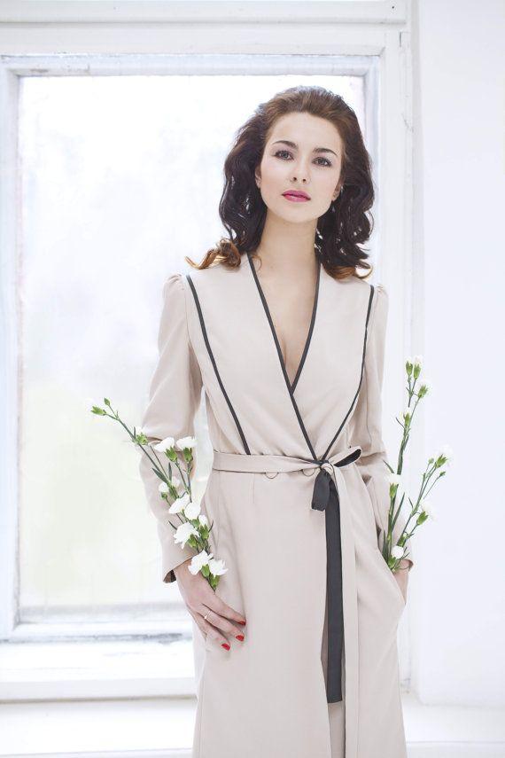 Light beige trench coat spring coat woman rain coat classic