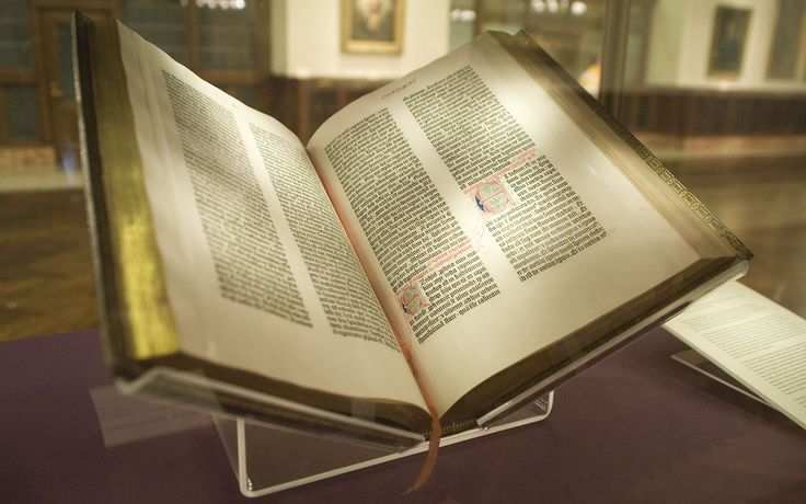 Gutenberg Bible, the book that started the printing revolution, circa 1455 [1280x800]