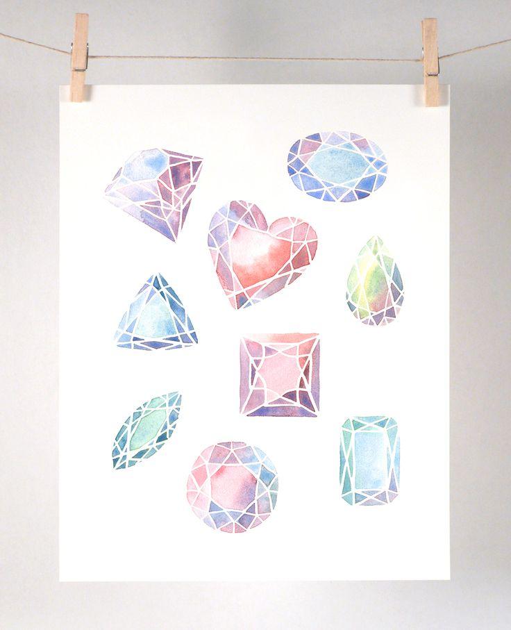 Gemstone Art Print