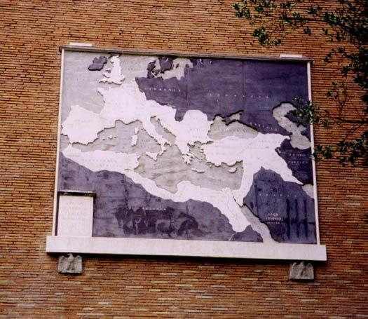 Map Of Roman Empire Under Trajan Put Up By Mussolini Rome - Map of rome under trajan