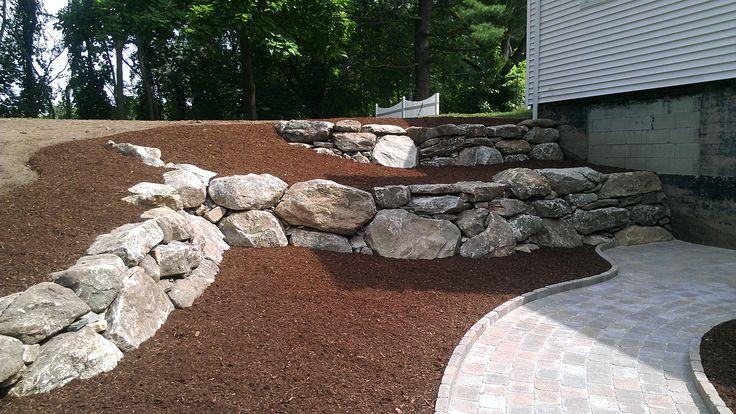 Garden rock for  around fence gardens