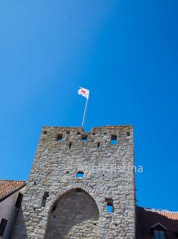 Visby, gotland, sweden, österport, wall