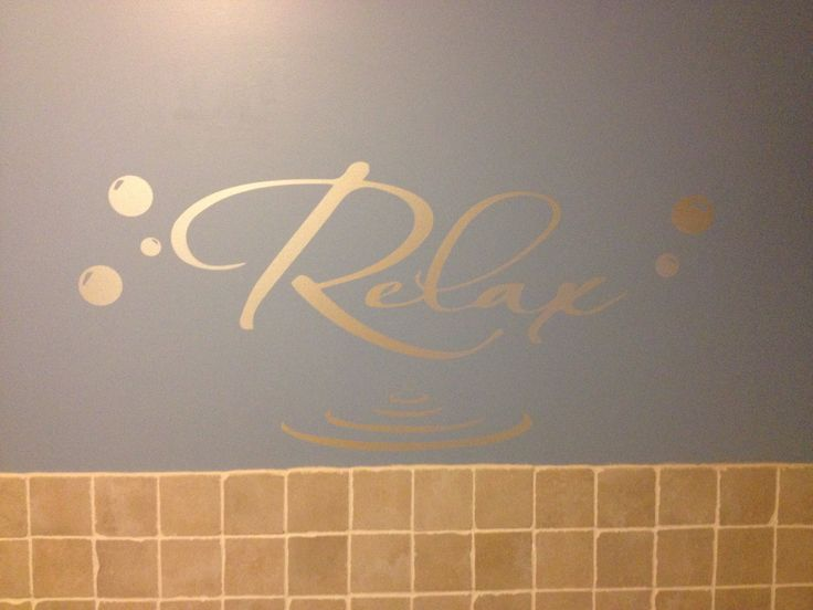White pearl relax decal for the bathroom @ntrumbley