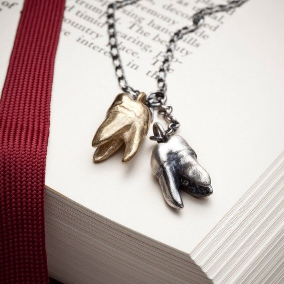 The Molar Tooth sterling silver pendant necklace by redsofa