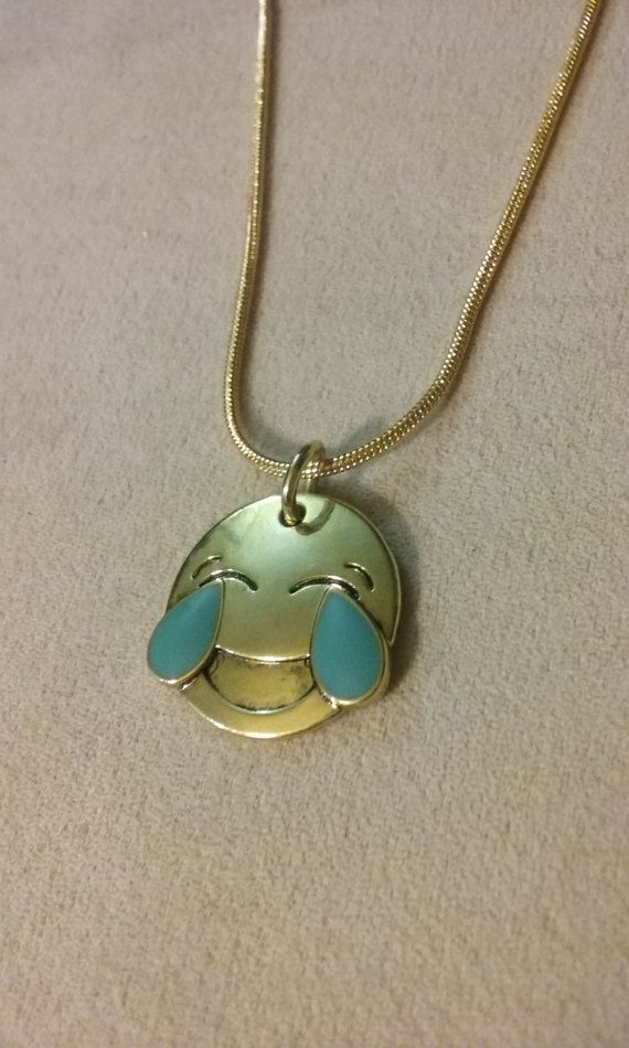 Handmade Laughing Smiley Face Emoticon by SilverGemJewelryEtc