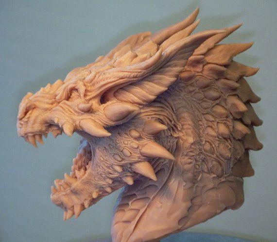 Dragon Bust Concept beeldhouwkunst