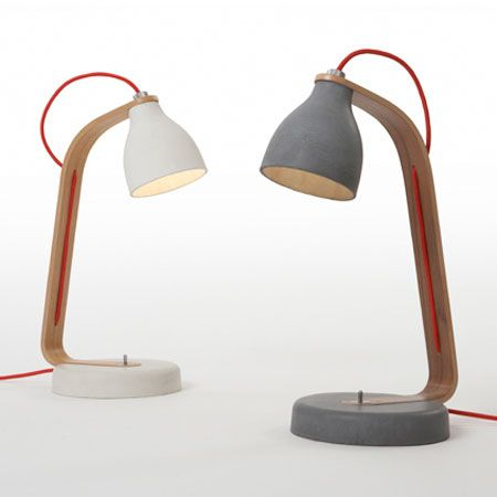 A beautiful desk lamp by London designer Benjamin Hubert for Decode London. These are nice, heavy concrete and amazing.
