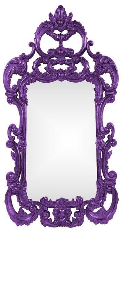 "Wall Mirrors, Grand 72"" Tall Baroque Mirror, Purple High Gloss Lacquer, so beautiful, inspire your friends and followers interested in luxury interior design & gifts with more beautiful accents like this from InStyle Decor Beverly Hills, Luxury Designer Furniture, Mirrors, Lighting, Art, Accents & Gifts, over 3,500 inspirations to choose from and share with our simple one click Pinterest Pin button enjoy & happy pinning"