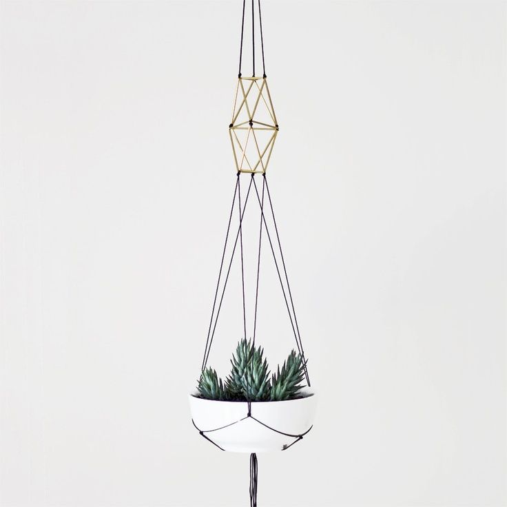 brass himmeli hanging planter