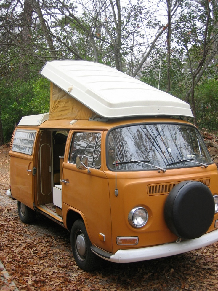 Camper VW Bully Westfalia, when our two oldest were little