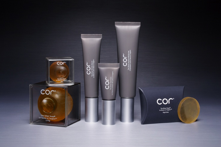 COR Silver. The exclusive skincare in the little orange ball. #health #beauty #fashion
