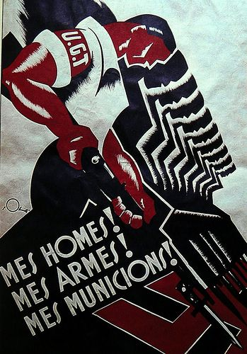 Mes homes, mes armes, mes municions :: posters from the spanish civil war / a set by ed ed #Spain #war #poster