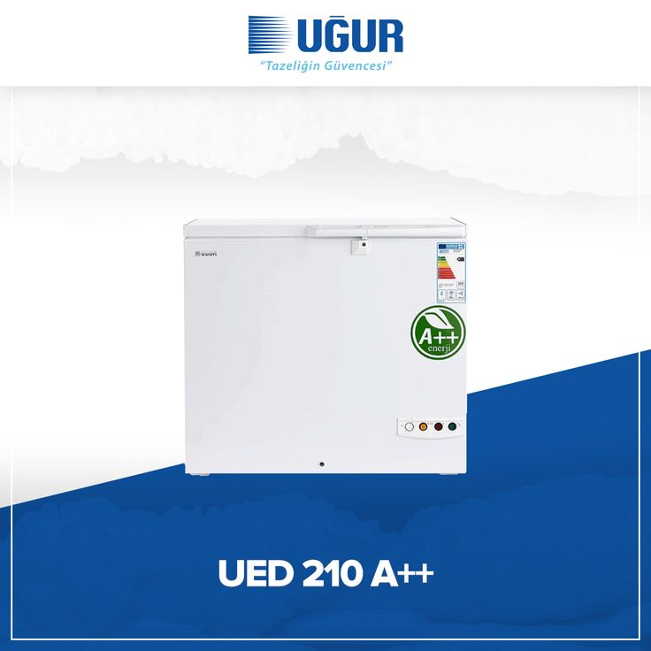 UED 210 A++ birçok özelliğe sahip. Bunlar; sağlam gövde yapısı, marka uygulama ve değiştirme kolaylığı, çok düşük enerji tüketimi, ayarlanabilir termostat, kolay ve esnek konumlandırma için opsiyonel 4 adet tekerlek, dolap içi aydınlatma, tek düğme ile hızlı şoklama. #uğur #uğursoğutma