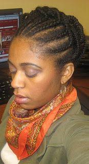 Naturally Elegant: Hairstyle: Cornrow & Individual Braid Updo