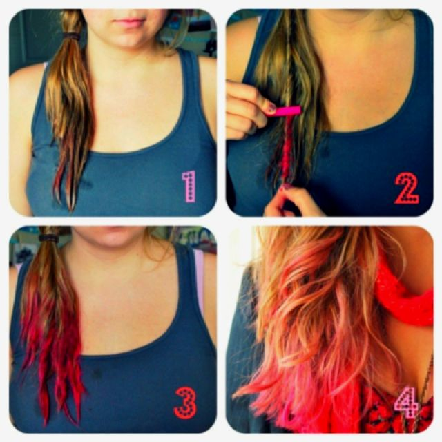 Pink Hair Chalk. Maybe for race for the cure and definitely for H!