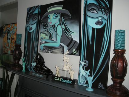 sold the piece over the mantle, so here's the new display