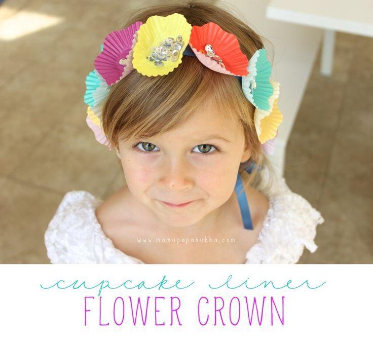 Cupcake Liner Flower Crown ‹ Mama. Papa. Bubba.Mama. Papa. Bubba.