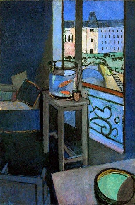 Henri Matisse, Intérieur, bocal de poissons rouges - 1914